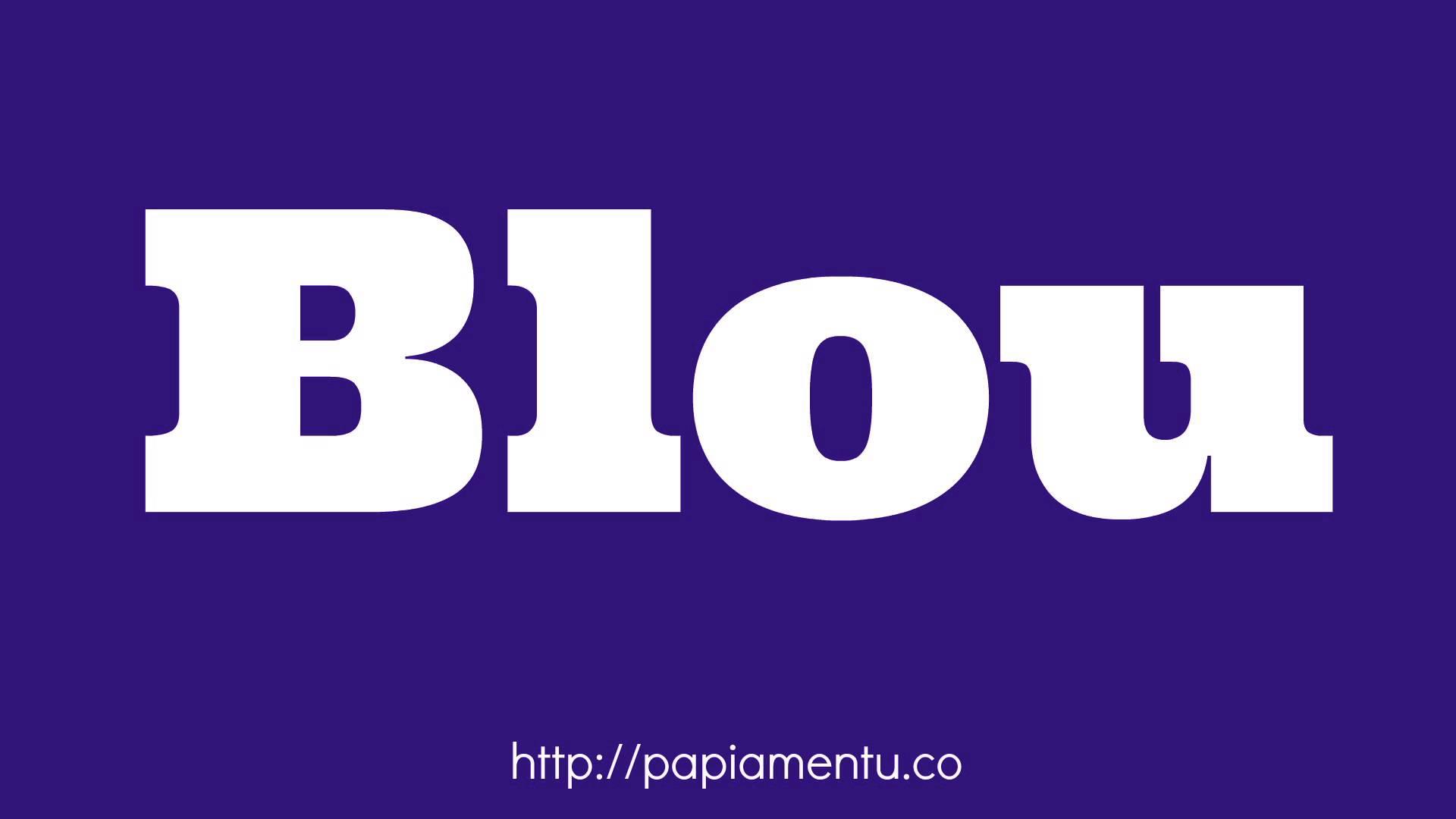 Zo zeg je Blauw in Papiamentu - Papiamentu.co