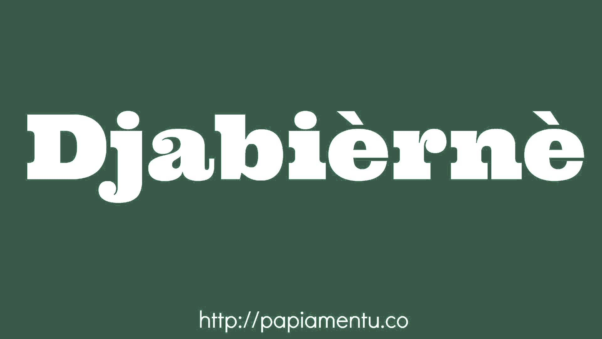 Zo zeg je Djabièrnè (Vrijdag) In Papiamentu