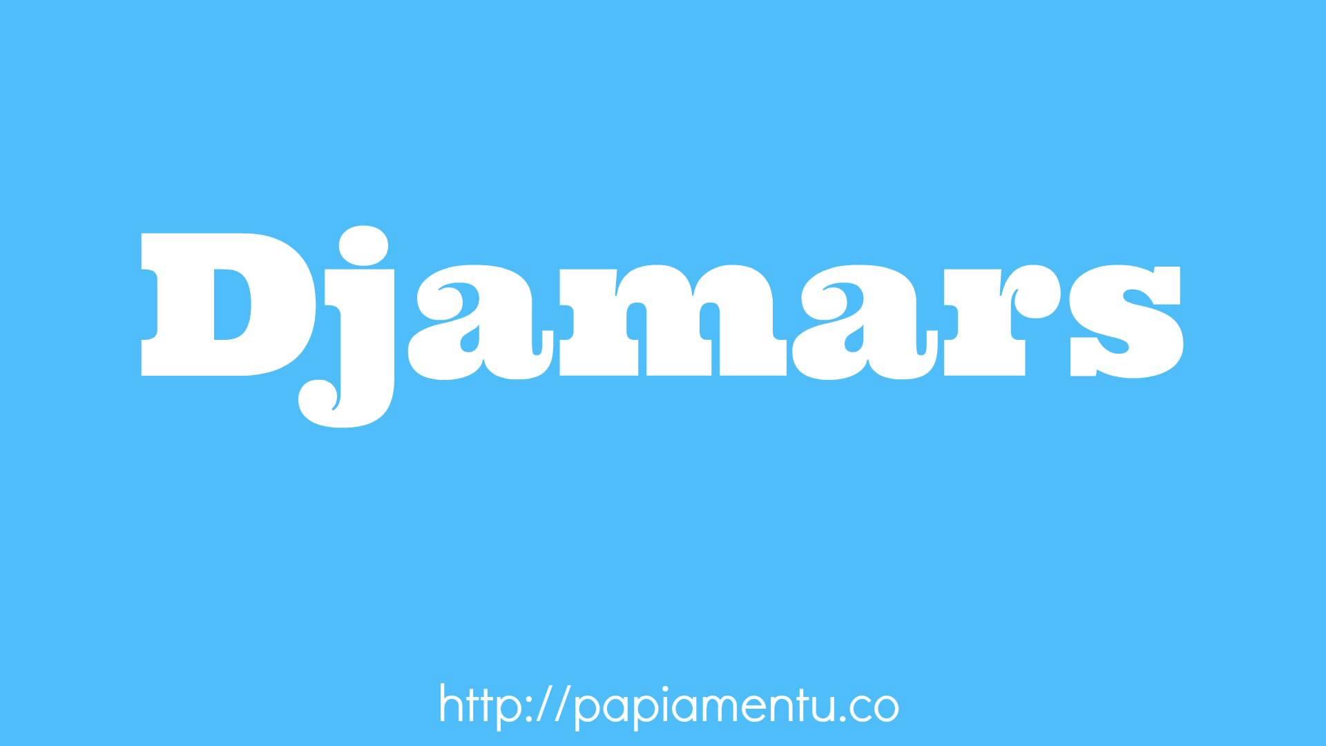 Zo zeg je Djamars (Dinsdag) In Papiamentu