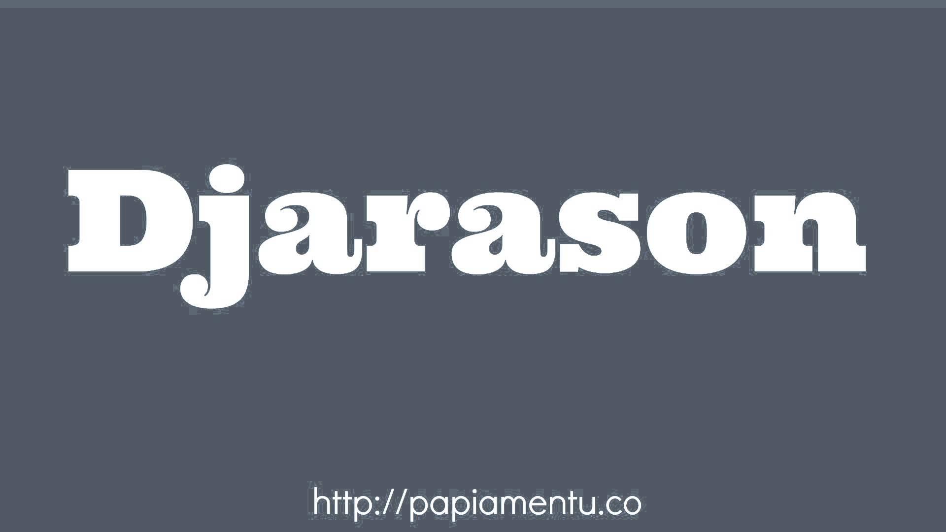 Zo zeg je Djarason (Woensdag) In Papiamentu