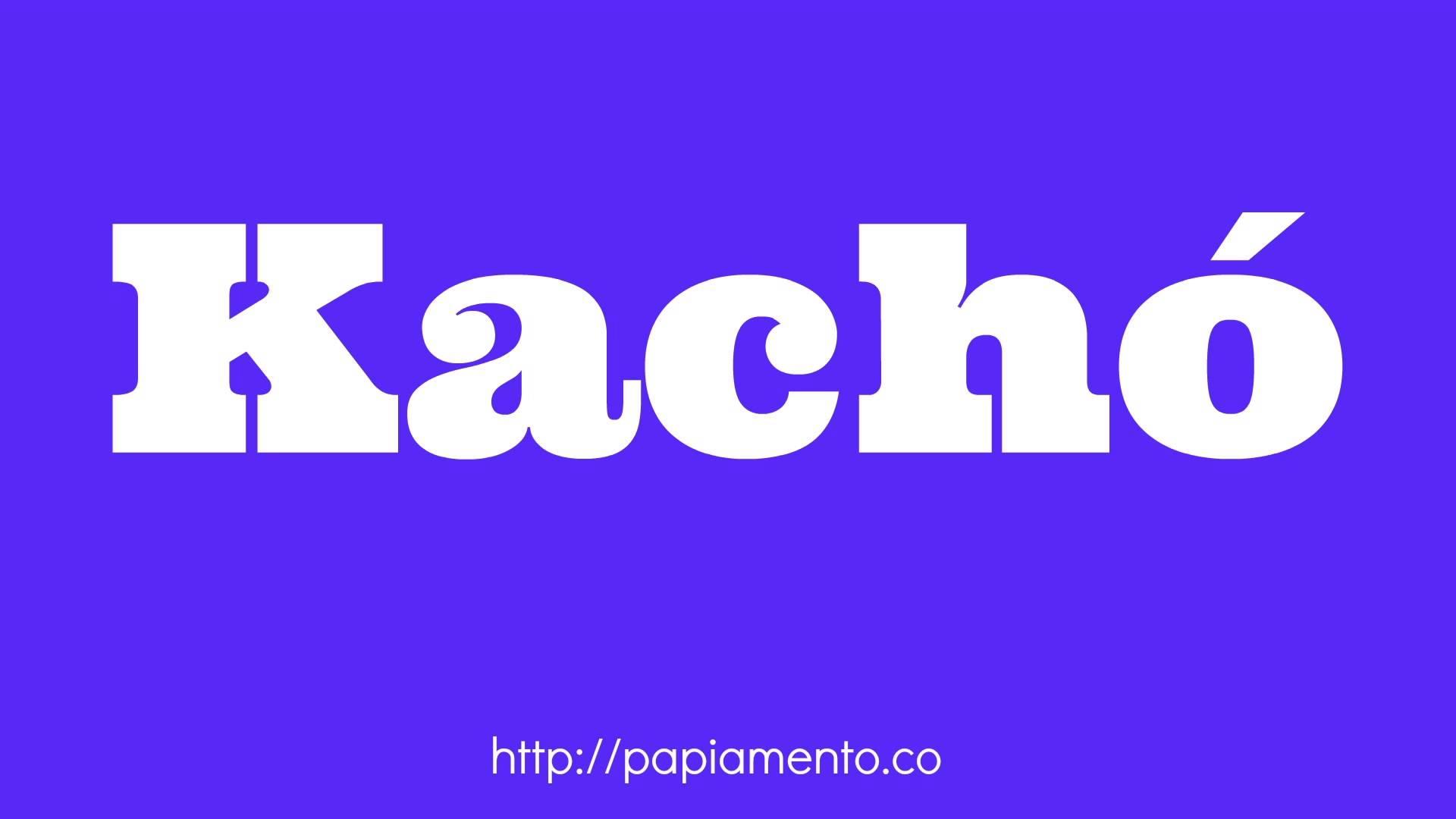 Zo Zeg Je Hond (Kachó) In Papiamentu