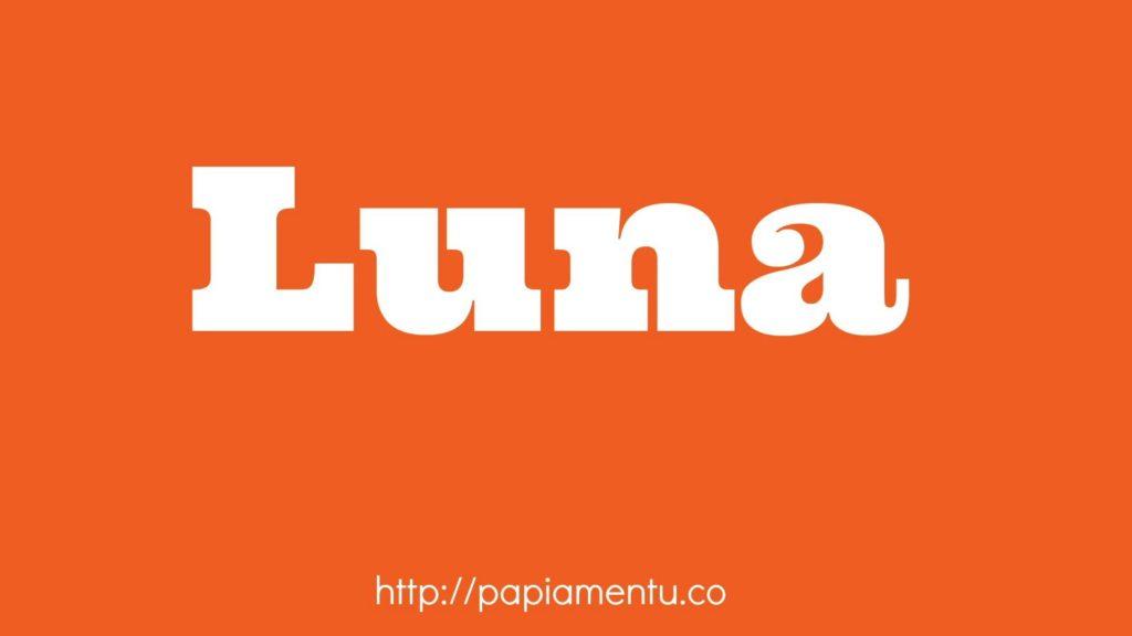 Zo zeg je maan in Papiamentu - Luna