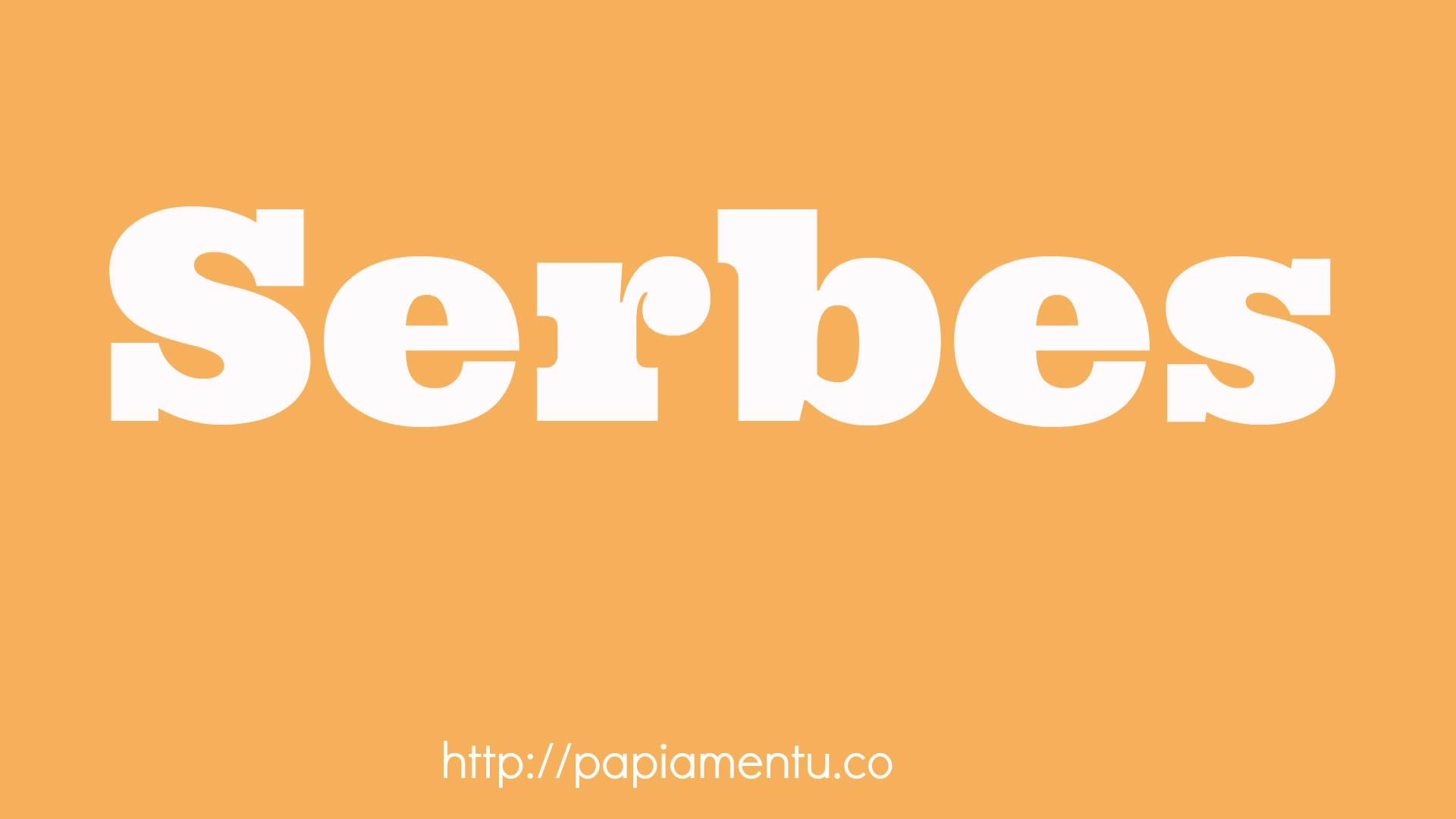 Serbes - Zo zeg je bier in Papiamentu