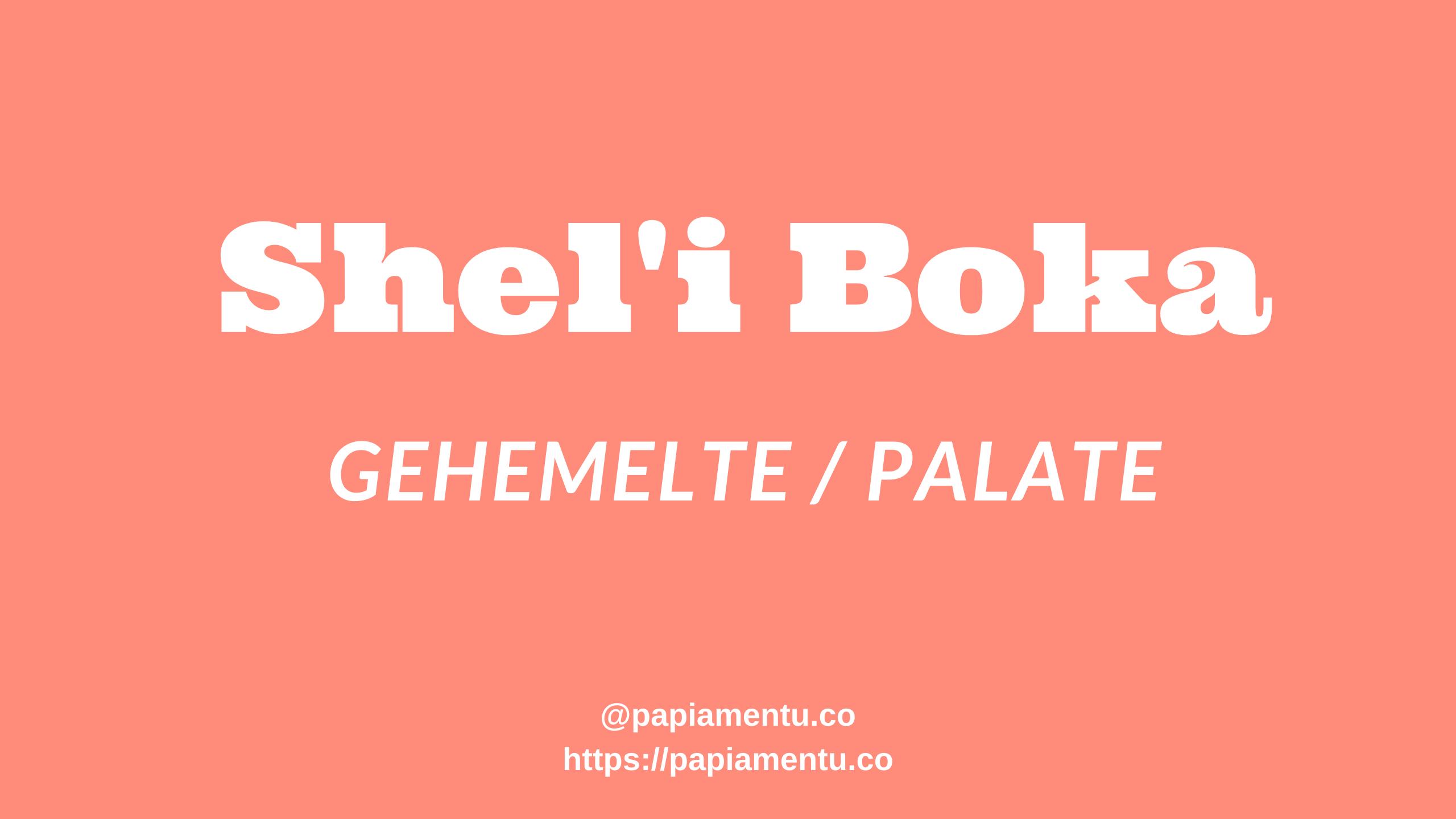 Shel'i Boka / Gehemelte / Palate in Papiamento